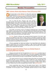 ABA Newsletter July 2011 - Asian Bankers Association
