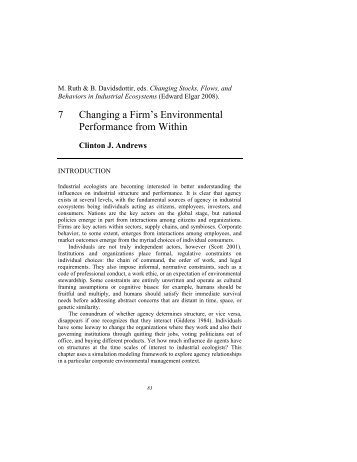7 Changing a Firm's Environmental Performance from Within