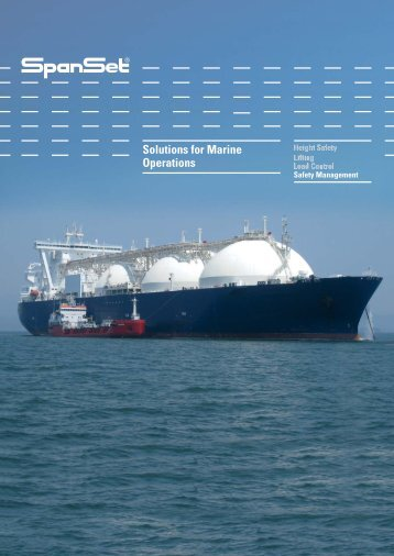 Marine Operations Brochure - SpanSet UK Ltd