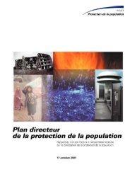 Plan directeur de la protection de la population - Bevölkerungsschutz