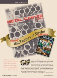 With the arrival of 2011, Metal Center News celebrates its 50th ...