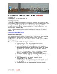 Deployment testing plan draft - Upper Narragansett Bay/Providence ...