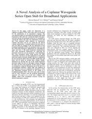A Novel Analysis of a Coplanar Waveguide Series Open ... - Ibcast