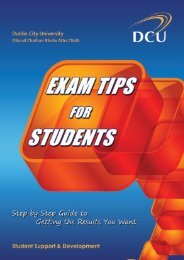 Exam Tips for Students - DCU