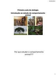 Etologia aula 01 - ETCO