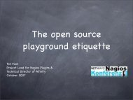 The open source playground etiquette - netways