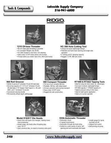 Rigid: Hand and Power Tools - Lakeside Supply Company
