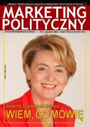 pierwszy profesjonalny magazyn o marketingu politycznym w polsce
