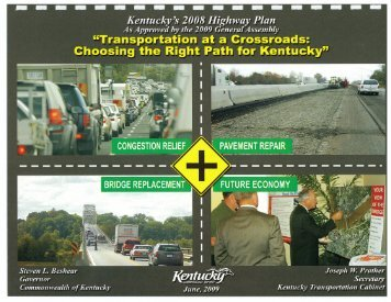 2008 Highway Plan - Kentucky Transportation Cabinet