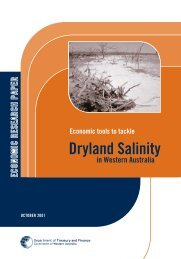 Economic tools to tackle Dryland Salinity in Western Australia