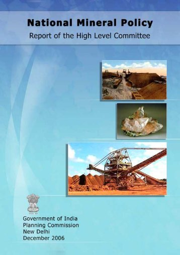 National Mineral Policy - Report of the High Level Committee ...