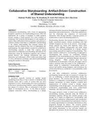 Collaborative Storyboarding - Computer Science Technical Reports