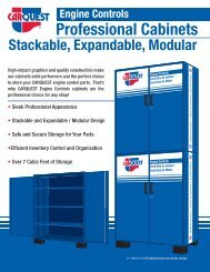 Professional Cabinets - CARQUEST Auto Parts