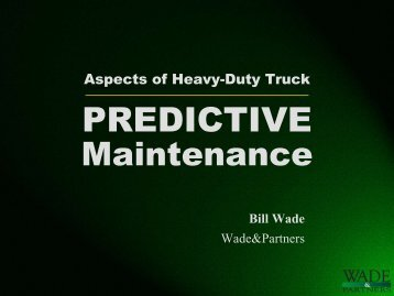 Aspects of Predictive Maintenance - Wade-Partners.com