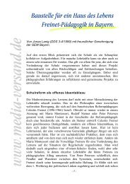 Baustelle für ein Haus des Lebens Freinet ... - Media-Versand