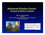 Advanced Ovarian Cancer: