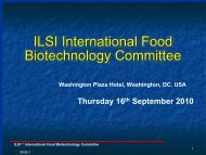 ILSI International Food Biotechnology Committee