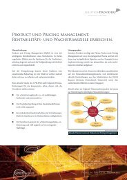 Product und Pricing Management. Rentabilitäts ... - solutionproviders