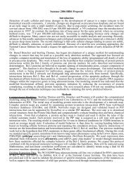 Summer 2006 BBSI Proposal Introduction Detection of early cellular ...