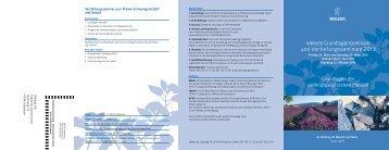 Anmeldeformulare Seminare - Weleda
