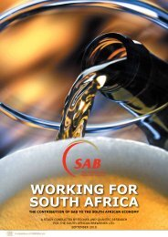 Working for South Africa: The Contribution of SAB to the ... - SABMiller