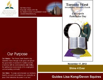 Guides Lisa Kong/Devon Squires - Toronto West Seventh Day ...