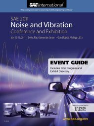 Noise and Vibration - SAE
