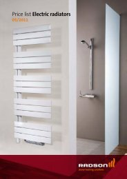 Price list Electric radiators - Purmo Radson