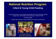 National Nutrition Program Infant & Young Child Feeding