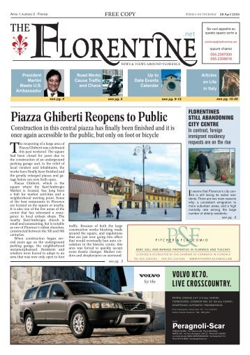 Piazza Ghiberti Reopens to Public - The Florentine