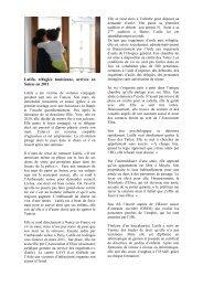 Latifa, réfugiée tunisienne, arrivée en Suisse en ... - Hospice général