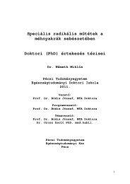 magyar - PTE Egészségtudományi Kar - Doktori Iskola - Pécsi ...