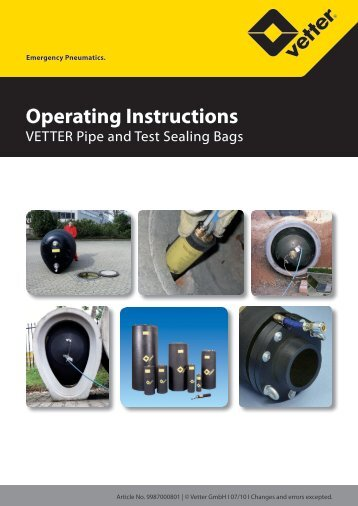 Operating Instructions - Vetter