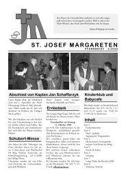 ST. JOSEF MARGARETEN - 5., Pfarre St. Josef