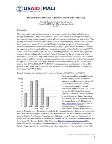 The Contribution of Tourism to Economic Growth ... - AgEcon Search