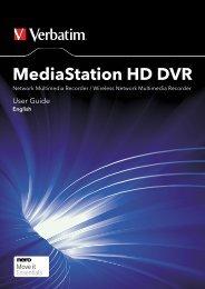 MediaStation HD DVR User Guide ENGLISH.indd - Verbatim