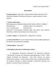 IV Ogólnopolska Konferencja Studenckich Kół Naukowych ...