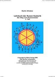 Lehrbuch der Runen-Esoterik - Neues Denken, neues Leben