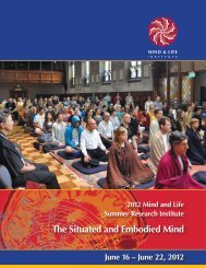 CONFERENCE BROCHURE - Mind & Life Institute