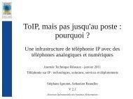 ToIP, mais pas jusqu'au poste - Comité Réseau des Universités