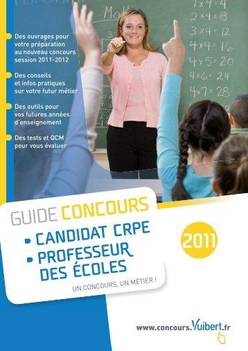 Guide Condours CRPE - Professeur des Écoles - Vuibert