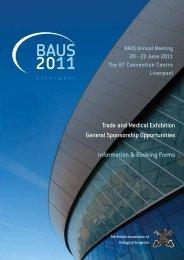 Exhibition Brochure - British Association of Urological Surgeons