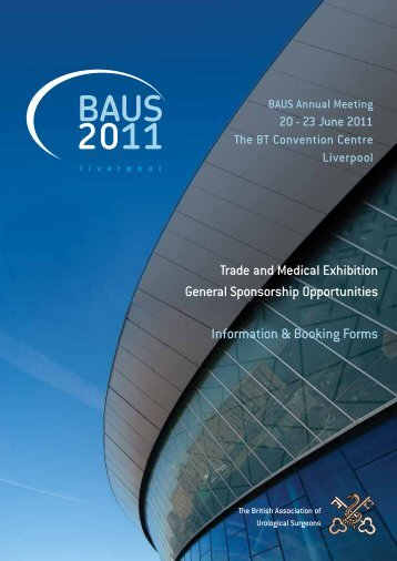 Exhibition Brochure - British Association of Urological Surgeons