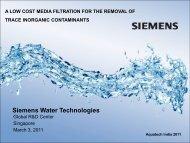 Siemens Water Technologies - Aquatechtrade
