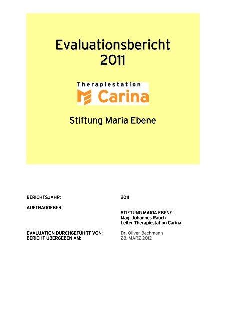 Evaluationsbericht 2011