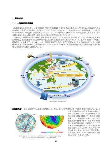18 3. 基幹講座 3.1 大気海洋科学講座 - 宇宙惑星科学大講座 - 東京大学