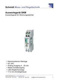 Datenblatt Auswertegerät SKM - Schmidt - Mess- und Regeltechnik