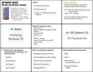 IFSM 310 A+ Demo Installing Windows 95 A+ OS Domain 1.0