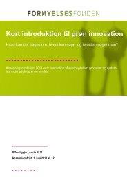Kort introduktion til grøn innovation - systemløsninger