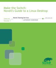Make the Switch: Novell's Guide to a Linux Desktop